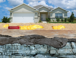 chemical grouting process for foundation repair due to sinkhole damage